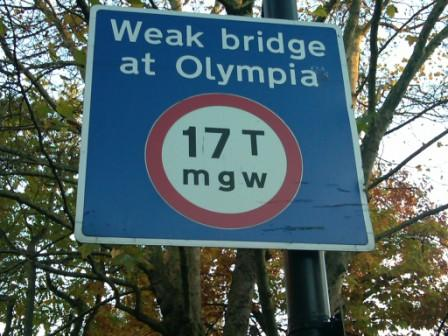 Jonathan J Halperin UK picture Weak bridge at Oylmpia