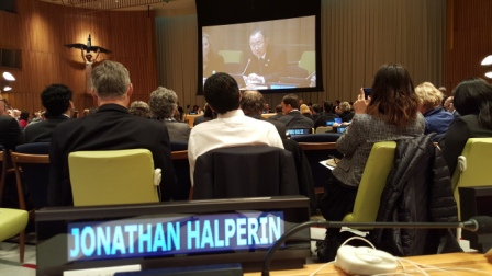 Jonathan J Halperin at UN 2016 Investor Summit on Climate Risk
