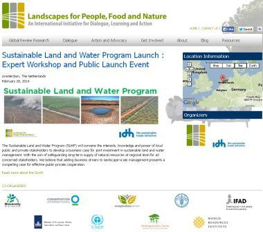 Sustainable Land & Water Program Expert Workshop